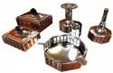 Art Deco Five Piece Chrome Smoking Set