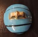 French Double Head Art Deco ROBJ Paris signed Ceramic Jar Bonbonniere 1930