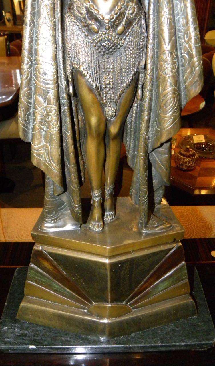 "Chiparus ""Antinea"" Egyptian Art Deco Bronze Statue Large ..."