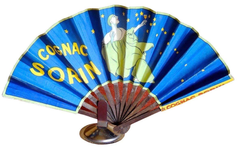Cognac Sorin French Advertising Fan