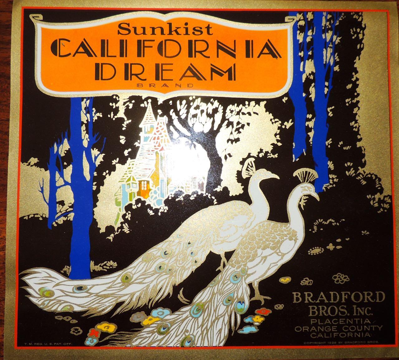 California Dream Orange Crate Label