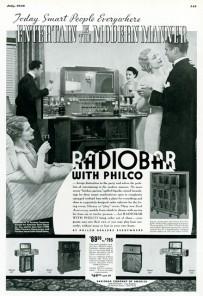Philco RadioBar Ad