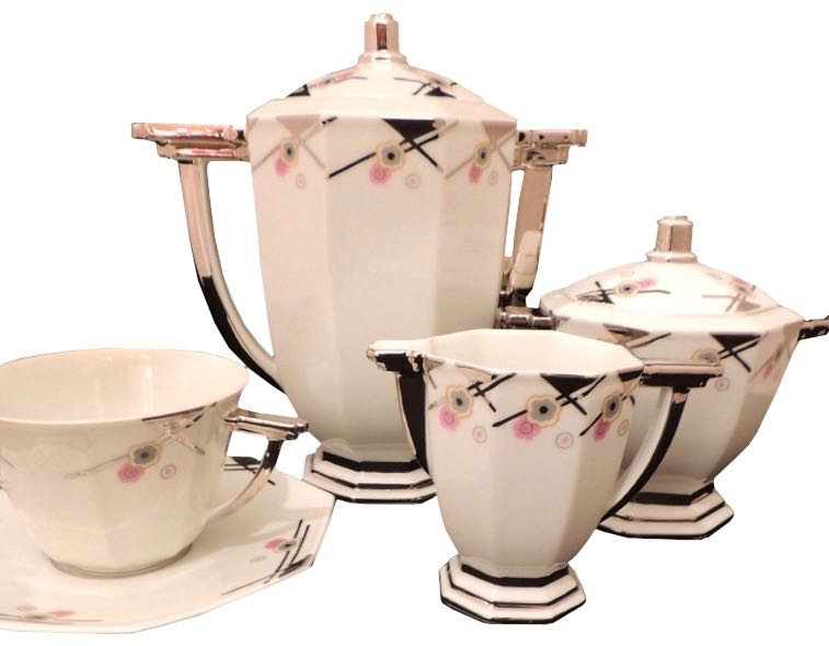 Limoges Art Deco CoffeeTea or Chocolate Set