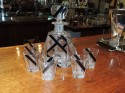 Crystal Art Deco Decanter Set with Glasses
