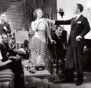 myrna and william entertaining at home
