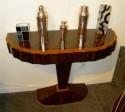 Art Deco Macassar Console with Fluted Detail and Drawer