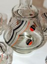 Art Deco Decanter Set with Dynamic Design