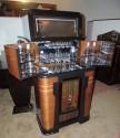Philco Art Deco Radio Bar Complete