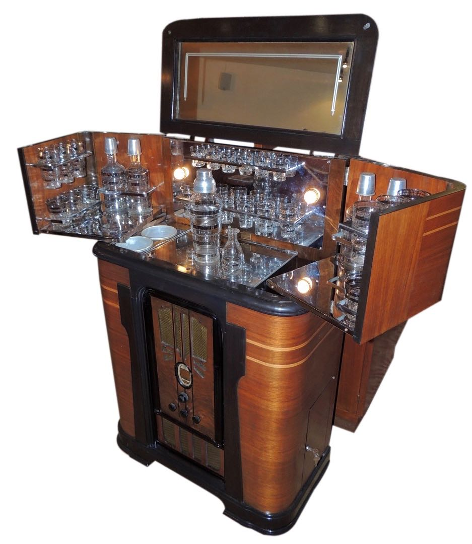 philco art deco complete radio bar sold items bars art deco collection. Black Bedroom Furniture Sets. Home Design Ideas