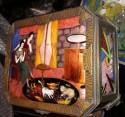 Art Deco Gamet Unique Enamel & Porcelain Box