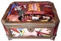 Art Deco Gamet French Unique Enamel & Porcelain Limogue Box