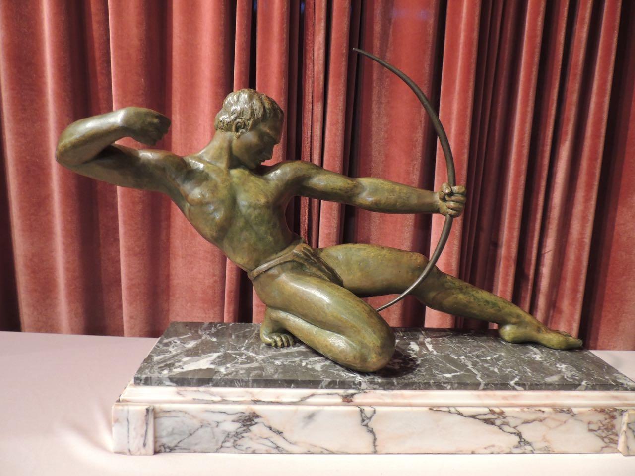 Art Deco Sculpture Of A Powerful Quot Archer Quot Statues Art