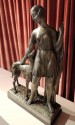 Grand Art Deco Sculpture of a Woman and Dog by I. Gallo