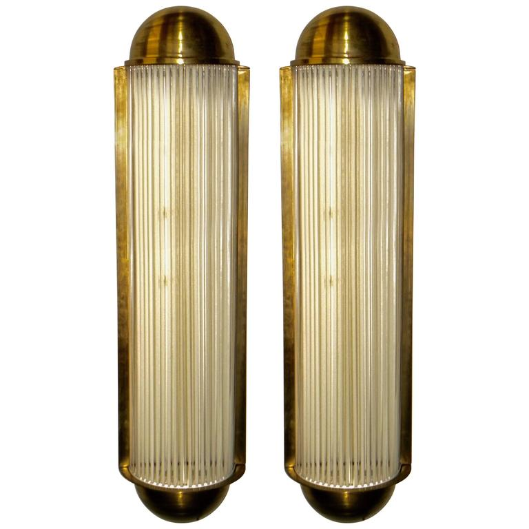 Art Deco Large Theater Sconces from Belgium in the style of Petitot