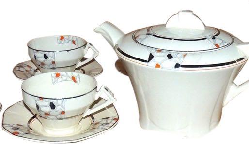 Art Deco English Tea Set by Alfred Meakin