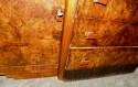 Bookmatched Dining Art Deco Storage Cabinet