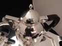 Art Deco Silver Tea and Coffee Set with Domed Lid