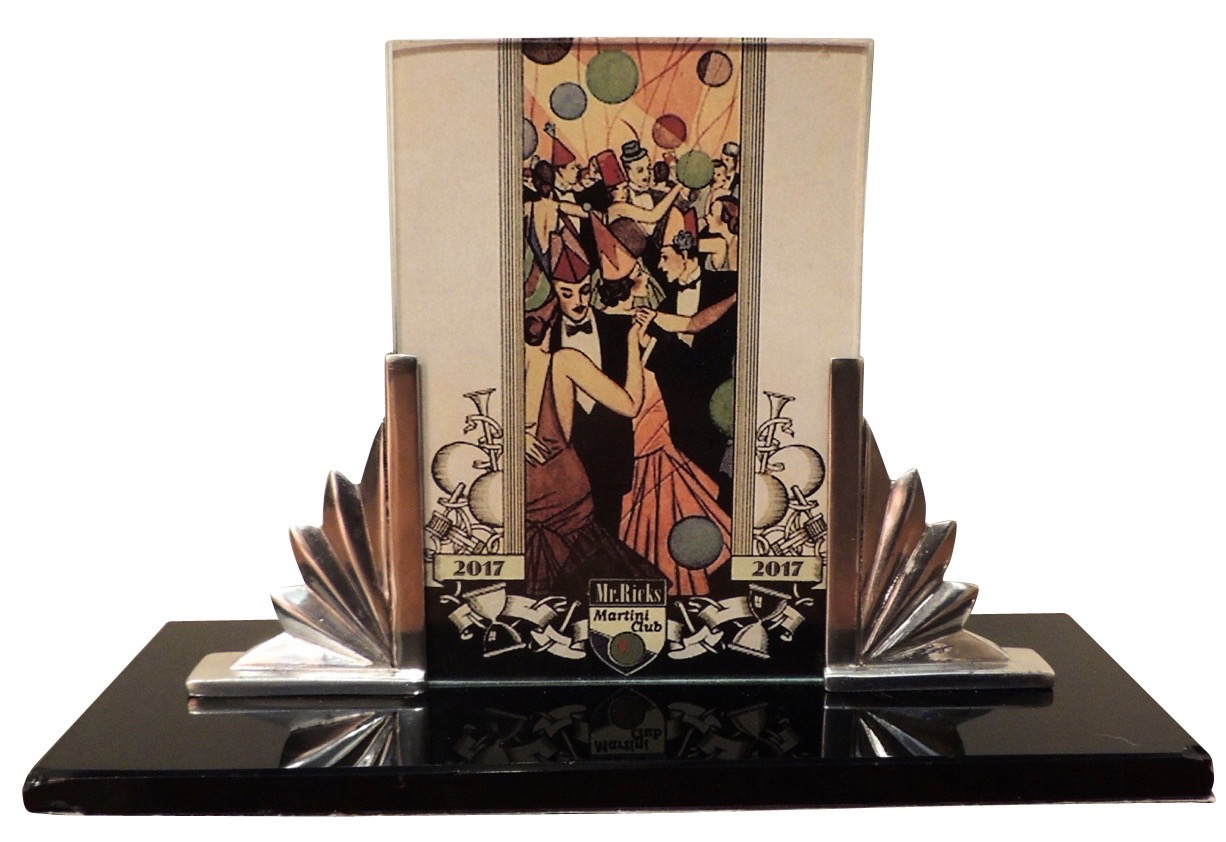 Art Deco Silver And Black Glass Picture Frame Picture Frames Art