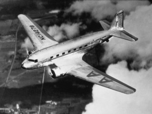 Nickel Stylized Twin Propeller Cargo Airplane Model