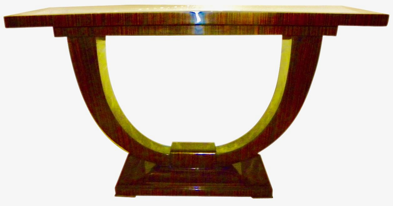 Art deco furniture for sale consoles art deco collection art deco console u shaped base in macassar wood in the style of ruhlmann geotapseo Image collections