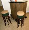 Macassar Art Deco Half round stand behind bar