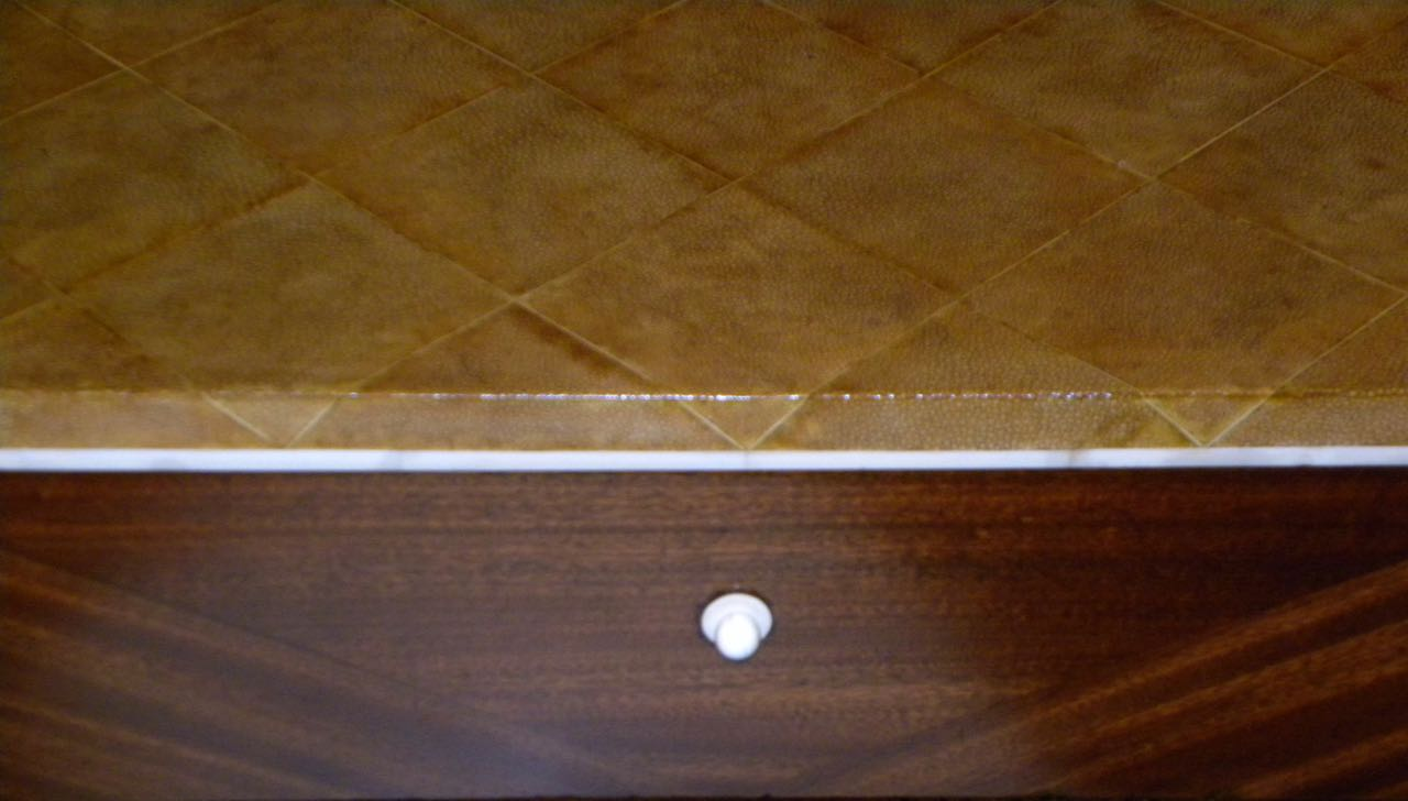 Petite Art Deco Desk Vanity Ruhlmann Style Mahogany Shagreen Amp Bone Inlay Bedroom Art