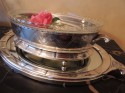 Art Deco Silver Centerpiece with Mirrored Tray