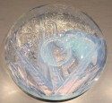 Muller Freres Luneville Hunters & Elephant Opalescent Glass plate