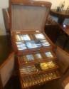 Complete WMF Silverware Service for 12 in Oak Storage Box