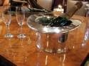 Silver Art Deco Top Hat Champagne Bucket