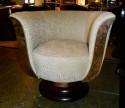 Custom French Art Deco Swivel Chairs
