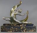 J. Lormier French Art Deco Bronze Dancer 1930s
