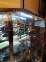 Art Deco Vitrine in Black Glass and Chrome