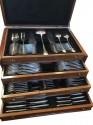 Christofle Art Deco Silverware Set in Wooden Chest