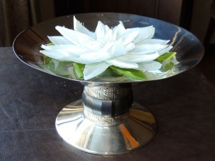 Art Deco Silver Compote with Ebony Detail