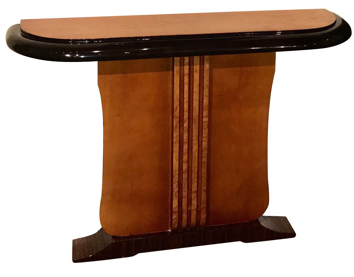 Custom Art Deco Two-tone French Style Console