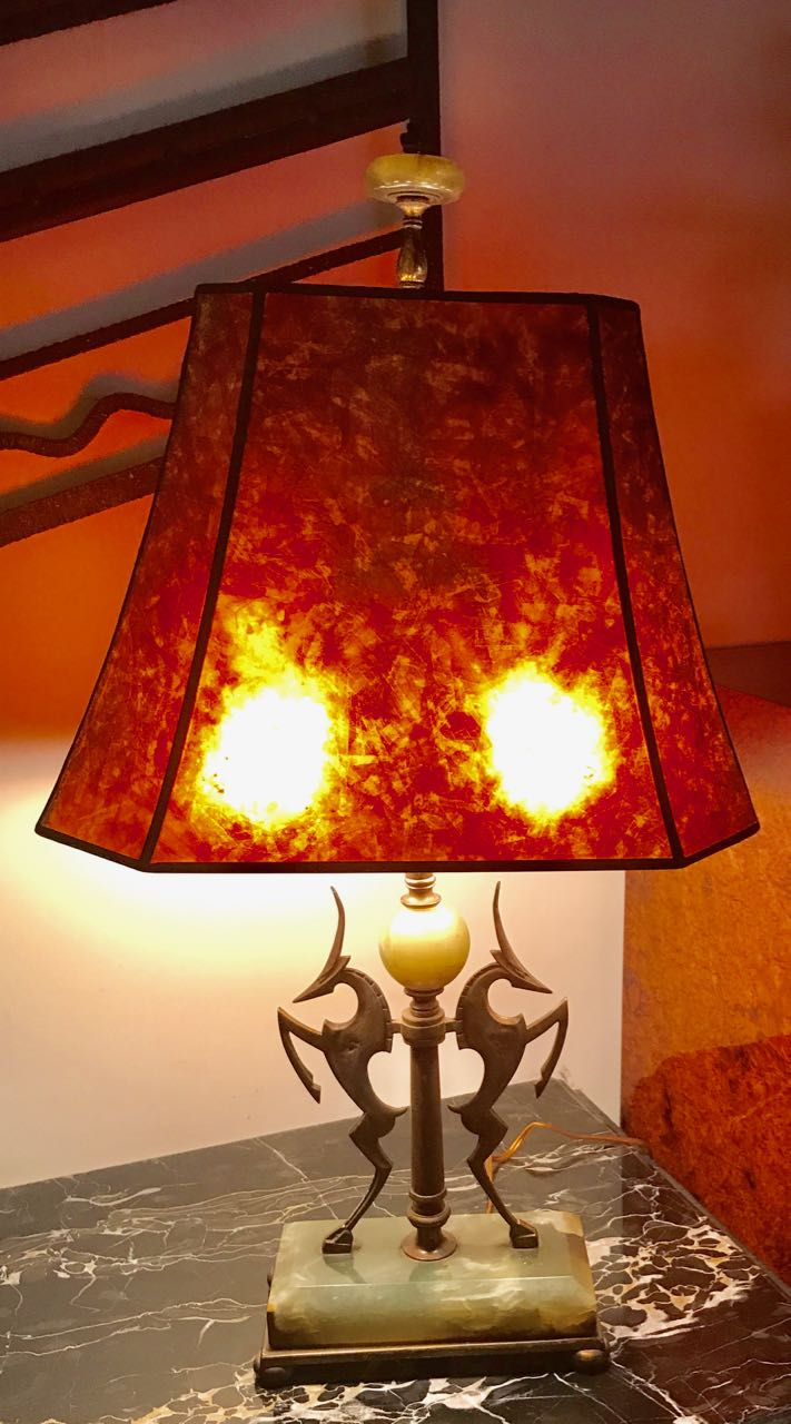 Bronze Tall Table Lamp