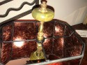 Art Deco Cubist Sculptural Table Lamp with Mica Shade