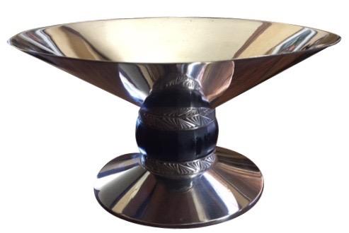 Art Deco Silver Compote