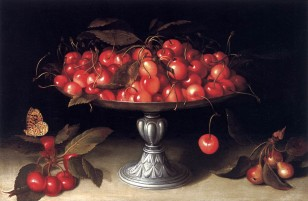 Silver Compote with Cheries