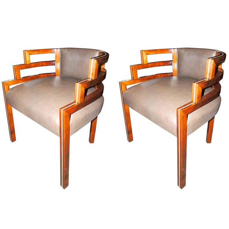 Art Deco Seating Items For Sale: Chairs, Barstools, Sofas, Club Chairs,  Leather, Mohair, Modernist