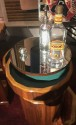 Fluted Art Deco Round Stack Bar Cart