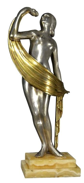 Art Deco Bronze the Rose Dancer by Zoltan Kovats
