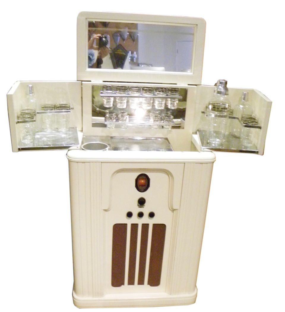 Philco Radio Bar Art Deco Complete
