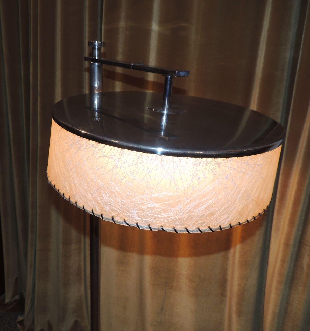 Convertible Mid Century Deco Floor Lamp By Kurt Versen