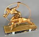 Limousin Art Deco Hoop Dancer and Dog