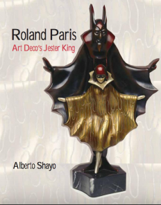Roland Paris Bronze & Ivory PAGLIACCI clown statue