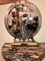 Custom Art Deco Silver Mirror and Console