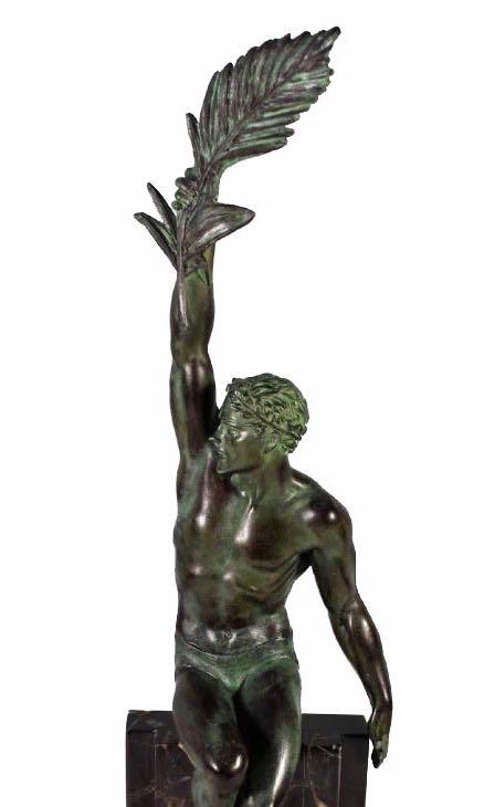 Pierre Le Faguays 'Gloire' Fonte D Art Editions Max Le Verrier Art Deco Statue