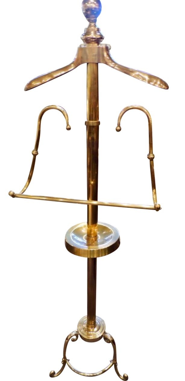 Brass Valet Clothing Stand Art Deco